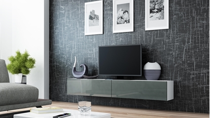 Изображение Cama TV Stand VIGO '180' 30/180/40 white/grey gloss
