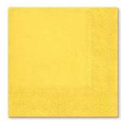 Attēls no Salvetes 33x33cm,  3 slāņi,  20 salvetes,  dzeltenas