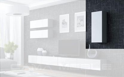 "Изображение Cama Cabinet VIGO ""90"" full 90/35/32 grey/white gloss"