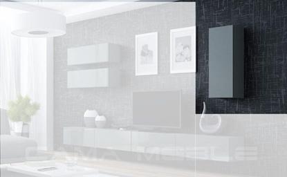 """Изображение Cama Cabinet VIGO """"90"""" full 90/35/32 grey/grey gloss"""