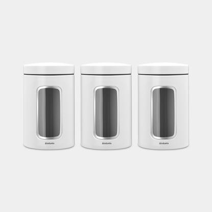 Attēls no BRABANTIA kārbas ar lodziņu komplekts 3 vienības, 1,4, white