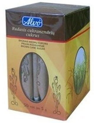 Picture of Sugar ALVO, brown, 250 g, 50 pcs. x 5 g