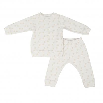 Изображение Akcija! Lodger Nombad Rib bērnu pidžama, 86 izm, Cloud Dancer