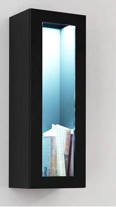 "Изображение Cama Cabinet VIGO ""90"" glass 90/35/32 black/black gloss"