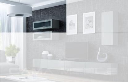 """Изображение Cama Cabinet VIGO """"90"""" glass 90/35/32 grey/grey gloss"""