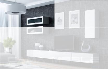 "Изображение Cama Cabinet VIGO ""90"" glass 90/35/32 grey/white gloss"