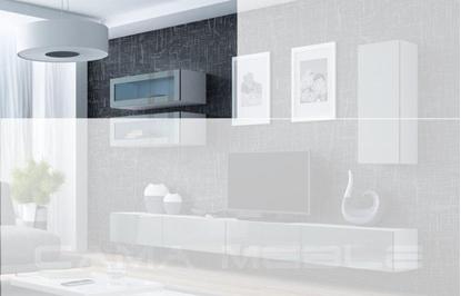 "Изображение Cama Cabinet VIGO ""90"" glass 90/35/32 white/grey gloss"