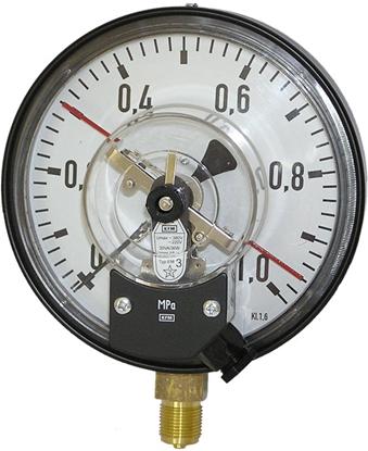 Attēls no El.kontaktmanometrs D160 0-10 bar(sertif.868) WIKA