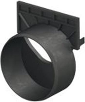 Изображение Kanāla gala noslēgs ar izvadu Dn100 melns HexaLine