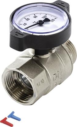 Picture of Lodveida ventilis 1''i-ā ar termometru TECE