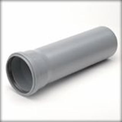 Picture of PPHT caurule Dn 50 25cm pelēka (070030)