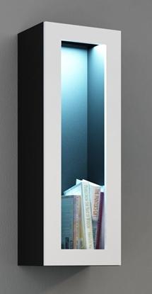 "Изображение Cama Cabinet VIGO ""90"" glass 90/35/32 black/white gloss"