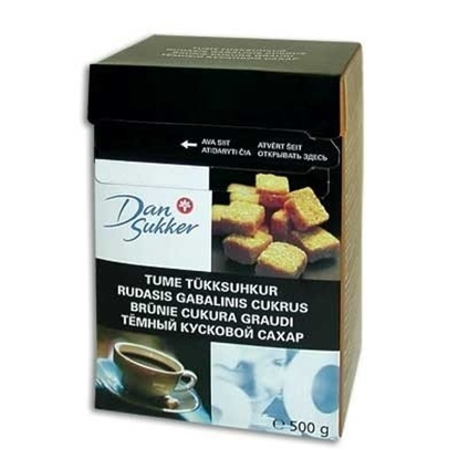 Picture of Lump Sugar Dan Sukker, brown, 500g