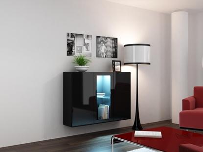 Изображение Cama Sideboard VIGO 90/120/38 black/black glossy