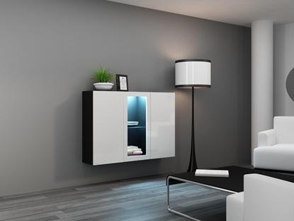 Изображение Cama Sideboard VIGO 90/120/38 black/white glossy