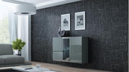 Изображение Cama Sideboard VIGO 90/120/38 grey/grey glossy