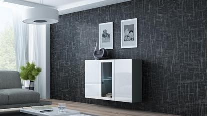 Изображение Cama Sideboard VIGO 90/120/38 grey/white glossy