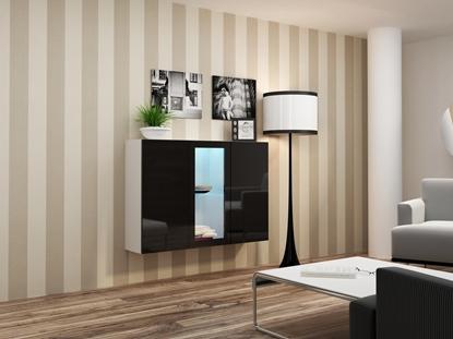 Изображение Cama Sideboard VIGO 90/120/38 white/black glossy