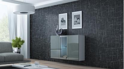 Изображение Cama Sideboard VIGO 90/120/38 white/grey glossy