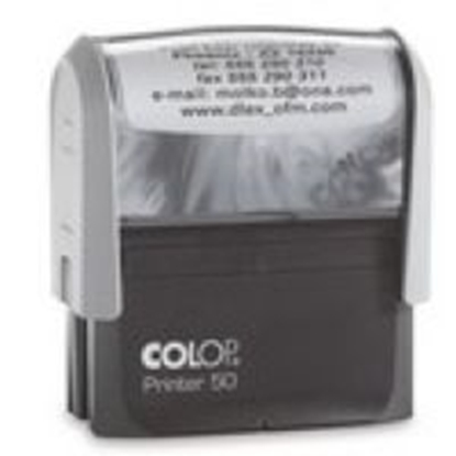Attēls no COLOP   Printer C50 black body/blue pad