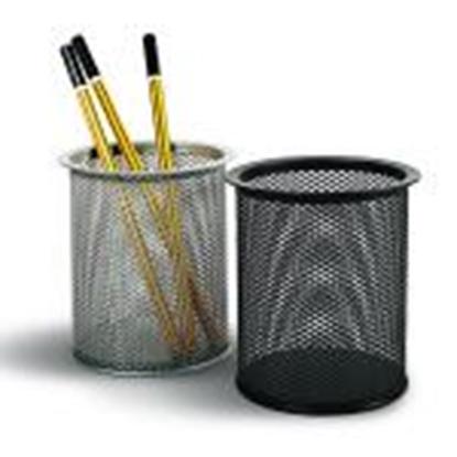 Изображение Glāzīte zīmuļiem,  perforēts metāls FORPUS,  melna krās