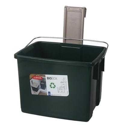 Picture of Atkritumu tvertne Biobox 6l zaļa