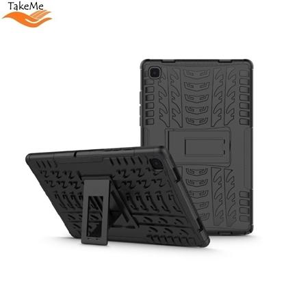 Изображение TakeMe Armorlok Planšetdatora maks-apvalks ar stendu priekš Samsung Galaxy Tab A7 10.4 2020 T500 / T505 Melns