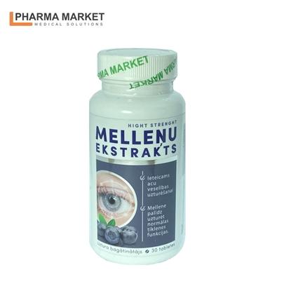Изображение PMS Uztura bagātinātājs Melleņu ekstraksts N30 tabletes