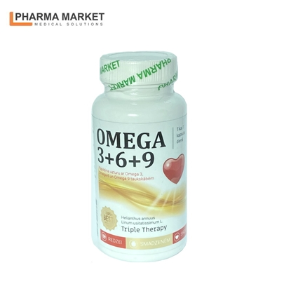 Изображение PMS Uztura bagātinātājs OMEGA 3 / 6 / 9 komplekss 1000mg N30 kapsulas