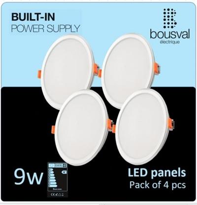 Изображение Komplekts 4 gab apaļas formas LED panelis 9W 3000K 116x36mm ar iebūvētu vadības bloku