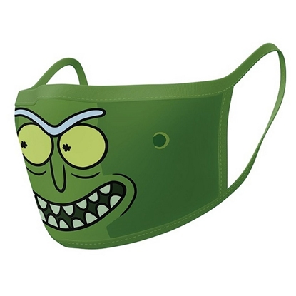 Attēls no Face Mask 2-Pack: Rick and Morty - Pickle Rick