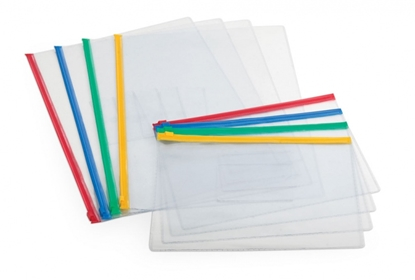 Attēls no Aplankas Forpus, A4, su įvairių spalvų užtrauktuku, skaidrus 0819-001