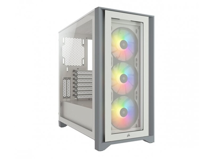 Picture of CORSAIR iCUE 4000X Temp Glass Mid White