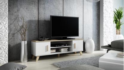Picture of Cama TV stand LOTTA 160 2D2K white/sonoma