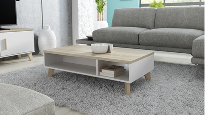 Attēls no Cama LOTTA 110 coffe table white/sonoma oak