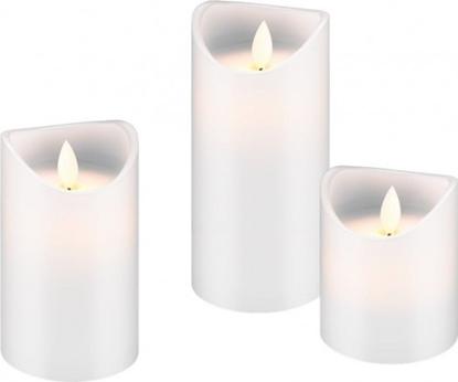 Attēls no Goobay LED 3 vaska sveču komplekts - skaists un drošs apgaismojuma risinājums