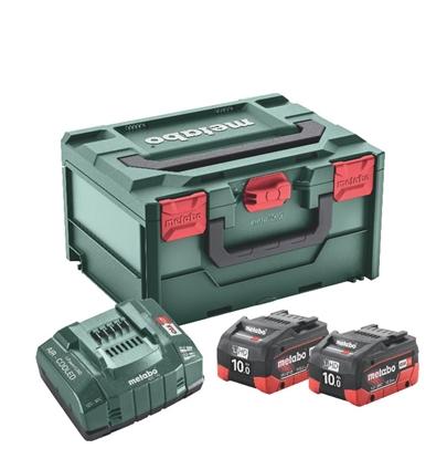 Attēls no Akumulatori 2 x 10,0 Ah LiHD + ASC 145 lādētājs + MetaBOX215, Metabo
