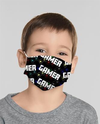 Изображение Mocco Gamer Child Cotton Face Mask Multiple Use 15x25 cm