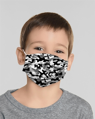 Изображение Mocco Military Child Cotton Face Mask Multiple Use 15x25 cm