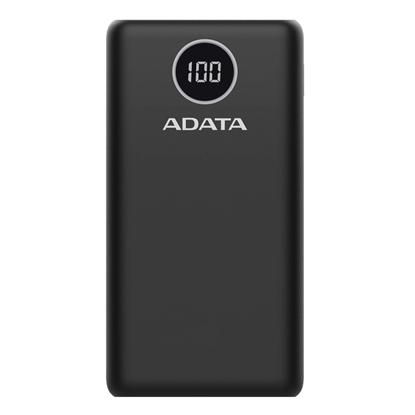 Attēls no ADATA Power bank P20000QCD 20000 mAh, Li-Polymer, Black