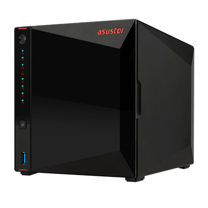 Attēls no Asus Asustor Nimbustor 4 AS5304T up to 4 HDD/SSD, Intel Celeron J4105 Quad-Core, Processor frequency 1.5 GHz, 4 GB, SO-DIMM DDR4 2400, Single, Black