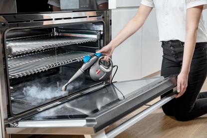 Изображение Bissell Steam Cleaner SteamShot Power 1050 W, Steam pressure 4.5 bar, Water tank capacity 0.36 L, Blue/Titanium