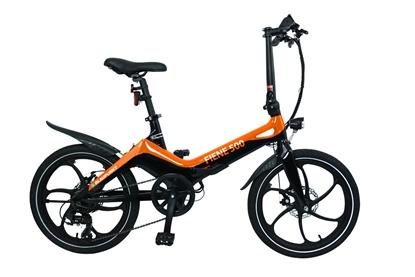 """Attēls no Blaupunkt Fiene 500, E-Bike, Motor power 250 W, Wheel size 20 """", Warranty 24 month(s), Orange/Black"""