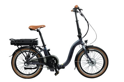 "Attēls no Blaupunkt Folding E-bike FRANZI 500, Motor power 250 W, Wheel size 20 "", 22.5 kg, Aluminum, LCD, 4 h, Lava grey matt, 80 km"