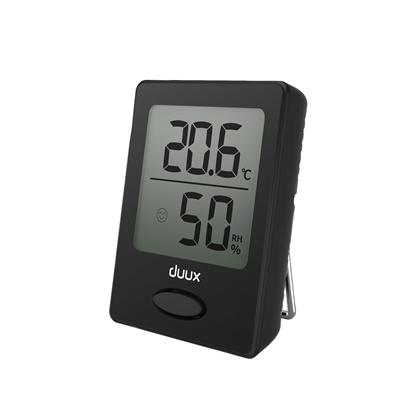 Attēls no Duux Sense Hygrometer + Thermometer, Black, LCD display