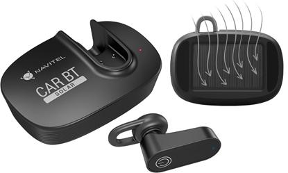 Изображение Navitel Multifunctional Bluetooth Headset Solar Car BT Hands free device, Bluetooth, Black, Recharge indicator