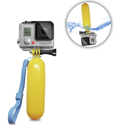 Picture of RoGer Waterproof Floating Holder for Go Pro / SJCam and Other Cameras Yellow