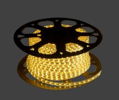 Изображение 220V IP65 3000K dimmējams LED lentes komplekts ar pulti. Lentes garums 20 metri.