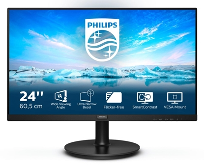 "Picture of 24"" VA, 1920 x 1080 @ 75 Hz, 250  cd/m², 3000:1, 4ms (GtG), Adaptive-Sync, 178/178, VGA/HDMI?Audio out, SmartImage, Low Blue, Tilt -5/20"