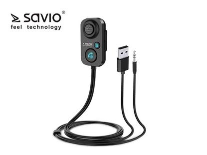 Picture of Odbiornik/adapter Bluetooth 5.1 transmiter AUX Jack 3,5 Savio TR-13